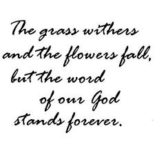 Word of God Stands Forever unmounted rubber stamp, Christian 16
