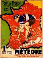 """TOUR DE FRANCE 1925 VINTAGE POSTER 8""""X6"""" METAL PLAQUE"""