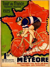 "TOUR DE FRANCE 1925 VINTAGE POSTER 8""X6"" METAL PLAQUE"