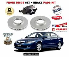 FOR MAZDA 6 2.3i SPORT GG1 2002-2008 FRONT BRAKE DISCS SET + DISC PADS KIT