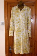 "STUNNING WHITE&YELLOW FLORAL DESIGNER DRESS BY NOA NOA,SIZE 14/16, ""GORGEOUS"""