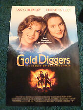 GOLD DIGGERS THE SECRET OF BEAR MOUNTAIN - MOVIE POSTER WITH CHRISTINA RICCI
