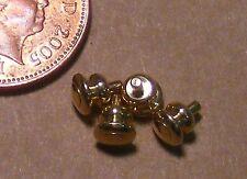 Escala 1:12 4 Manijas Perillas De Puerta De Latón Casa De Muñecas hágalo usted mismo Accesorio de 0.5cm X 0.5cm 584