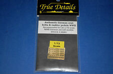 True Details 25001 - Authentic German seat belts & rudder pedals WWII scala 1/72