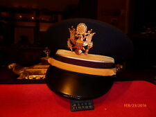 US ARMY COMPANY GRADE OFFICER HAT DRESS BLUE  KINGSFORM CAP COMPANY VISOR