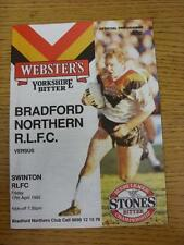 17/04/1992 Rugby League Programme: Bradford Northern v Swinton. This item is in