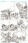 G.I. Joe #10 pg 6 ORIGINAL Pencil Art Zandar & Zarana Steve Kurth 11 x 17