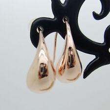 Elegant 18K Rose Gold Filled Teardrop Hook Earrings Girls Womens Jewellery