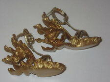 BJD 1/3 SD16 Resin Sculpted Alexander McQueen Gold Heeled Wedge DOLL Shoes