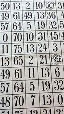 RPE337 Bingo Chart Games Bingo Board Games Cotton Fabric Quilt Fabric