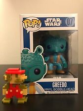 Funko Pop! 2011 Star Wars Greedo #07 Rare Blue Box Vinyl Bobble-Head Retired HTF