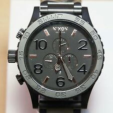 NEW Nixon Watch 51-30 Chrono All BLACK/ ROSE GOLD,A083957 5130,MEN GIFT! SALE