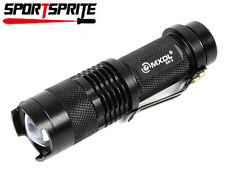 MXDL SA-3B CREE Q5 LED 200Lm 3-Mode Zoomable Focus Zoom Flashlight Torch Black