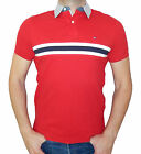 Tommy Hilfiger Men Polo Mesh T-Shirt 100% Cotton, Short Sleeve and Solid