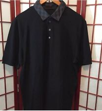 100% Authentic LOUIS VUITTON Damier Graphite Collar Polo Shirt Men's XXL Rare!!