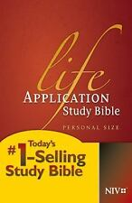 Life Application Study Bible NIV, Personal Size (2012, Hardcover)