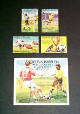1986 FIFA World Cup Mexico Antigua & Barbuda stamps and miniature sheet um/mnh