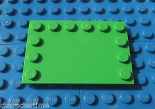 Lego 6180 4x6 Bright Green Tile, Mod with Studs on Edges X 1 **Brand New Lego**