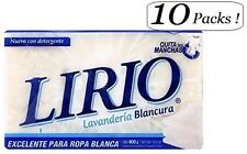 10x LIRIO Laundry Whiteness Bar Soap Great For Linens Jabon Lavenderia Blancura