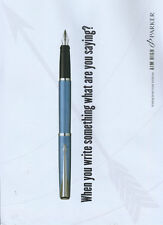 "Parker Latitude Pen ""Aim High"" 2006 Magazine Advert #2672"