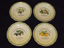 """Set 4 Les Gastronomiques De La Sante Green Salad Plates 7-3/4"""" GIEN France"""