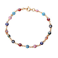 Fashion Charm Women Gold Plated Evil Eye Hand Bracelet Gift Nice