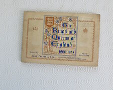 The Kings and Queens of England cigarette card album John Player & Sons complete