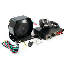 200W 8Sound Car Warning Alarm Police Fire Siren Horn PA Speaker MIC System 12V