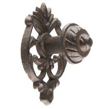 LOT 6 ANTIQUE STYLE OVAL CAST IRON DOOR DRAWER KNOBS CABINET PULLS FREE SHIP