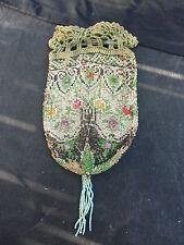 alter, mit Glasperlen bestickter Geldbeutel oder Damentäschchen, um 1910,