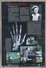 The History of Physics  A Century Of Physics Poster with Marie Curie Photo