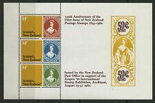New Zealand   1980   Scott # 703a   Mint Never Hinged Souvenir Sheet