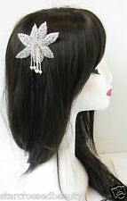 1920s Silver Pearl Vintage Flower Hair Comb Great Gatsby Bridal Headpiece R24