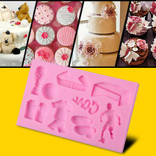 Silicone Football Accessories Pattern DIY Decorate Mold Cake Fondant Mould Tool