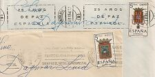 COVER SPAIN ESPAGNE ESPANA 2 COVERS BARCELONA TO SWEDEN. L475