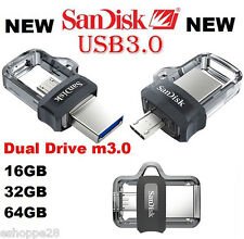 16GB SANDISK ULTRA DUAL DRIVE M3.0 OTG PEN DRIVE !!! NEW LAUNCHED !!!