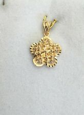 Pre Owned 18k Solid Yellow Gold Flower Pendant 1.81Grams
