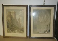 Set of 2 Framed Prints by David Roberts:: Hall of Abencerages & Tower of Comares