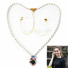 Women's Necklace Wireless Stereo Bluetooth Headset For Samsung Note 5 4 3 Lite 2