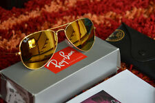 AUTHENTIC RAY-BAN WOMEN's GOLDEN GOLD AVIATOR SUNGLASSES RB3025 112/93 58-14