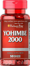 Puritan's Pride Yohimbe Bark 2000 mg Male Sexual Health 50 Capsules