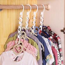 Space Saving Wonder Magic Clothes Hanger Rack Clothing Hook Organizer Set BE