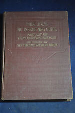 1909 Mrs Joes Housekeeping Guide