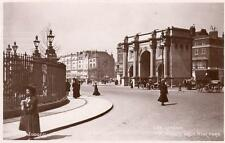 Marble Arch Hyde Park London RP pc used 1909 Chelsea machine postmark Judges L66