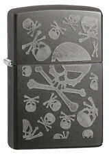 Zippo 28685 Iced Skulls Gray Dusk Finish Lighter