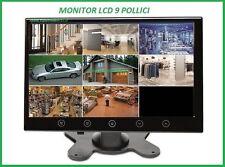 MONITOR LCD 9 POLLICI TELECAMERA  AUTO INGRESSO AV VIDEOSORVEGLIANZA