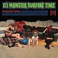DEADLY ONES-IT`S MONSTER SURFING TIME  VINYL LP NEW