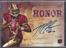 ROBERT GRIFFIN III 2012 TOPPS VALOR HONOR PURPLE ON CARD ROOKIE AUTO RC #D 14/50