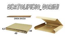 10PZ SCATOLA CARTONE 49x44x4 ,5 FUSTELLATA IMBALLO  SPEDIZIONE BAULETTO PIATTE