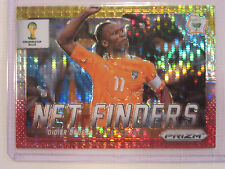 2014 Panini Prizm FIFA World Cup Soccer Yellow Red and White Prizm Didier Drogba